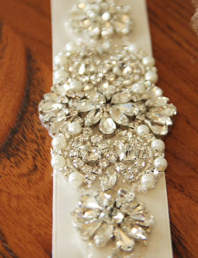 bridal sash, wedding belt, crystal sash viogemini 2