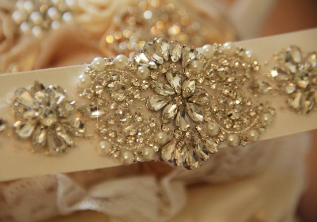 bridal sash, wedding belt, crystal sash viogemini 9