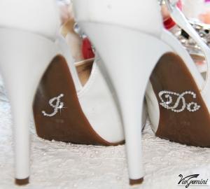 i do sticker bridal shoes white pearl
